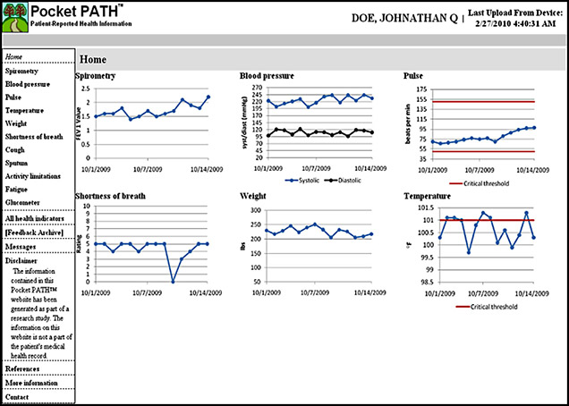 Pocket PATH dashboard